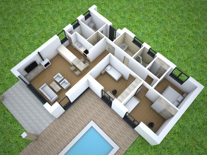 Projekt Domu 4 Izbový Bungalov Juliet Domprojekt