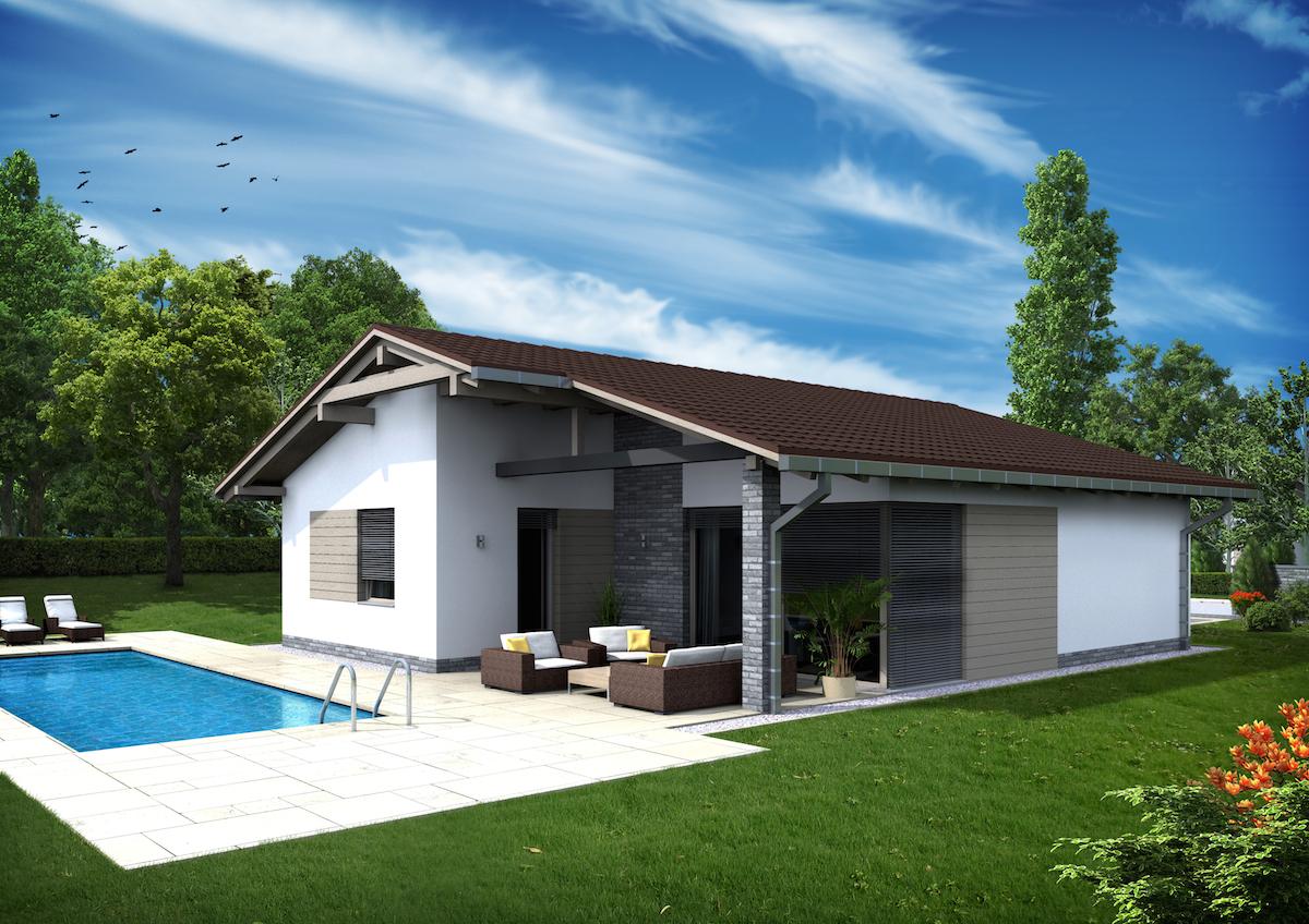 Projekt Domu 4 Izbový Bungalov Flavia Domprojekt