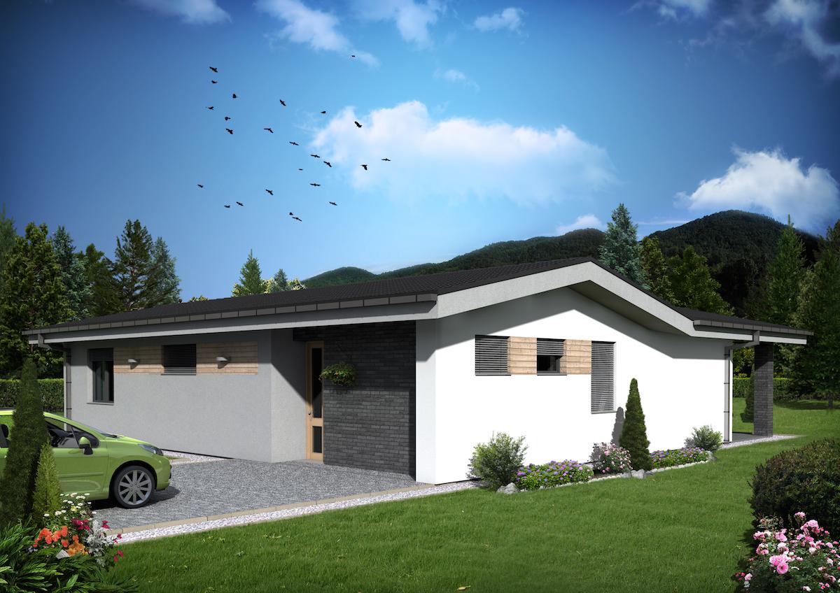 Projekt Domu 4 Izbový Bungalov Jemma Domprojekt